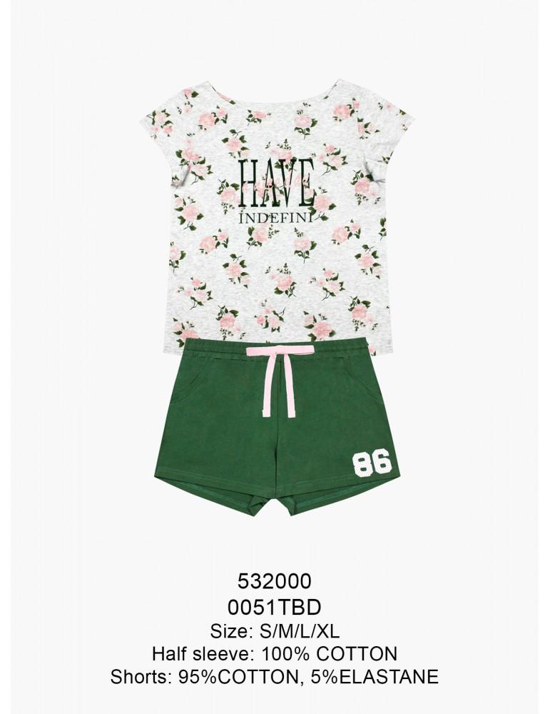INDEFINI Пижама с шортами TBD0051