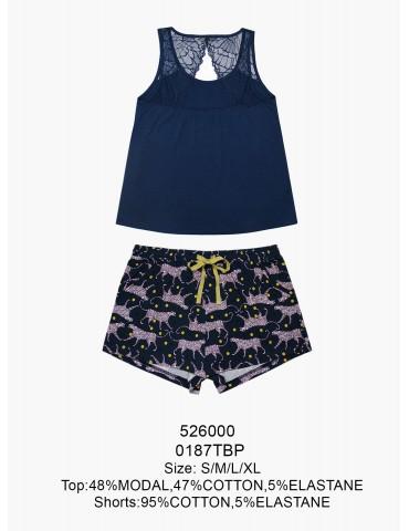 INDEFINI Пижама с шортами TBP0187