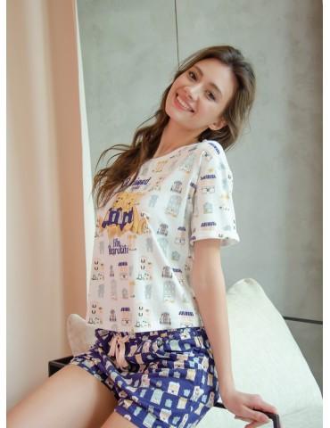 INDEFINI Пижама с шортами TBD1039