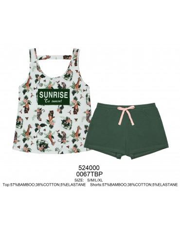 INDEFINI Пижама с шортами  TDP0067