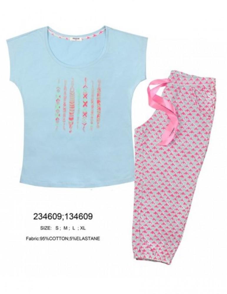 Костюм с бриджами Indefini арт.234477 футболка с бриджами
