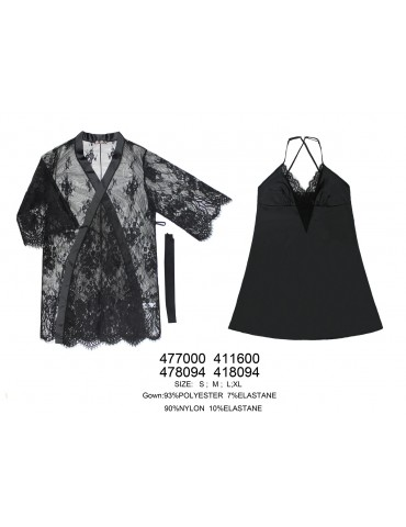 INDEFINI Двойка (сорочка и халат) 478094