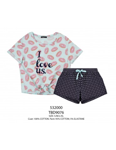 INDEFINI Пижама с шортами TBD9076
