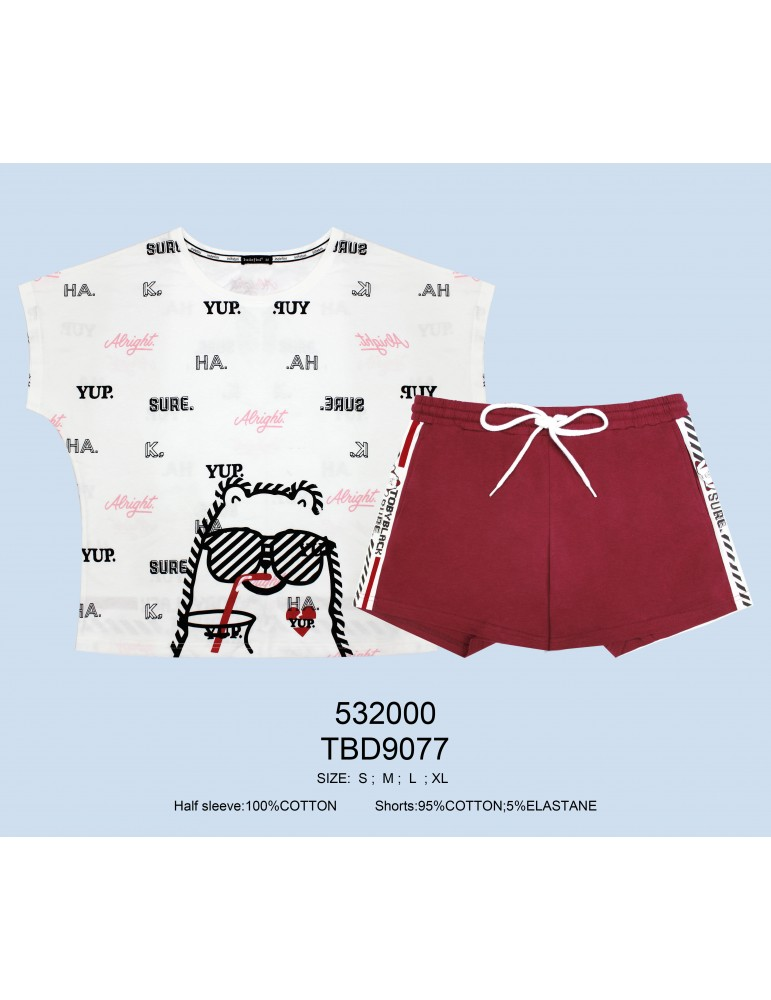 INDEFINI Пижама с шортами TBD9077