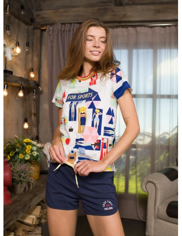 INDEFINI Пижама с шортами TBD9089
