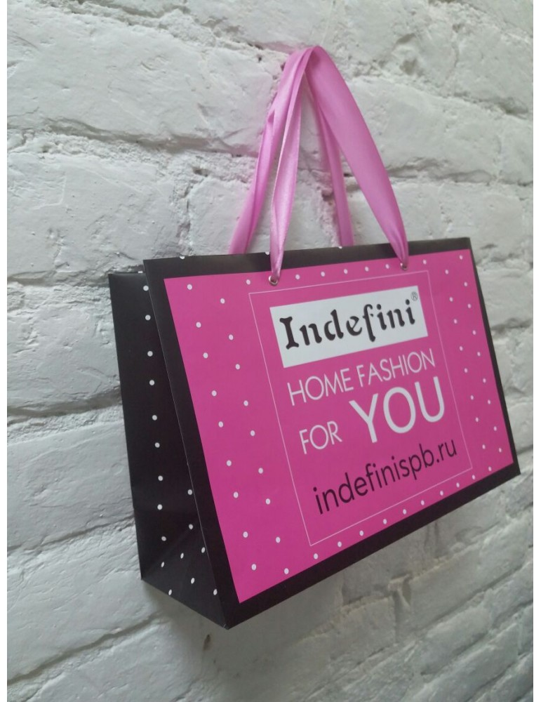 INDEFINI Пакет подарочный с матовой ламинацией